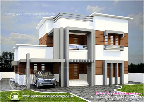2560 square feet flat roof villa Kerala home design and floor plans