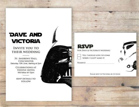 Star Wars Wedding Invitation Rsvp Order Of Ceremony These Are Awesome Star Wars Disney Wars Save The Date Templates