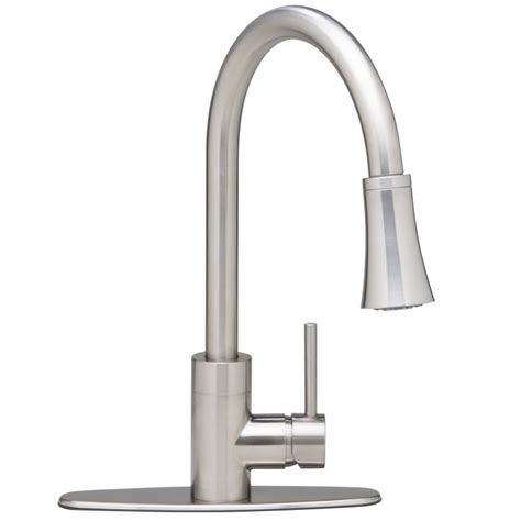 proflo kitchen faucet faucet pfxc7011bn in brushed nickel by proflo