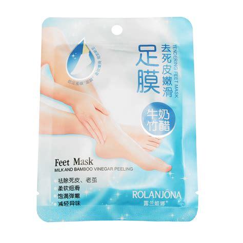 Cow Milk Exfoliating Foot Mask rolanjona bamboo vinegar milk mask exfoliating