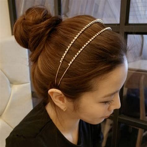 headband hairstyles for thin hair 120 best images about korean hair on pinterest