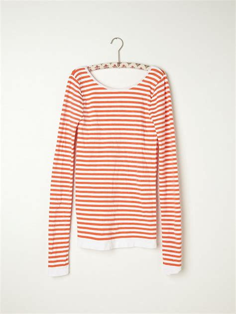 the 25 best low back lyst free striped low back top in orange