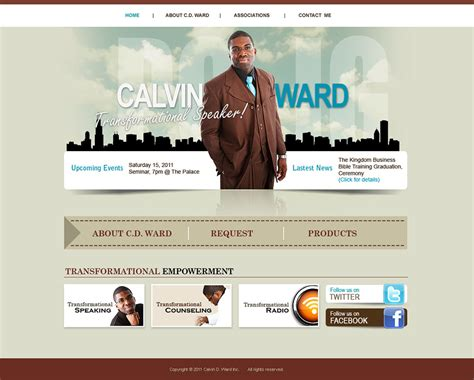 Christian Author Websites Websites For Christian Authors Speaker Website Templates