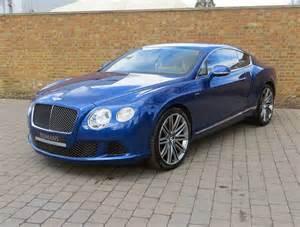 Blue Bentley Gt 2014 14 Used Bentley Continental Gt Speed Sequin Blue