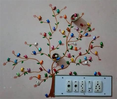 Simple Craft Ideas For Home Decor How To Make Pista Shell Bird For Wall Decoration Simple