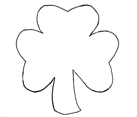 printable shamrock images shamrock template free premium templates