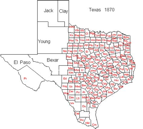 texas map 1850 the 254 counties of texas gif 968x900 mapporn