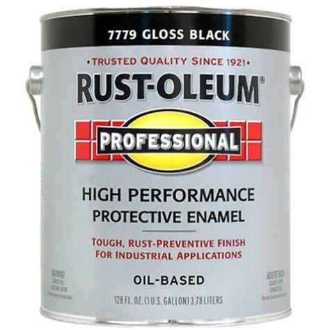 buy the rust oleum 7779402 protective enamel paint gloss black gallon hardware world