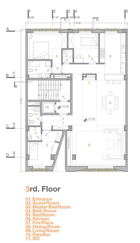 floor plan 3rd street gallery of afsharian s house rena design 19
