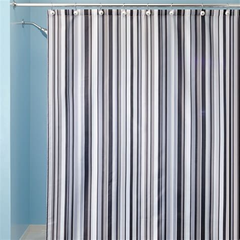 Stripped Shower Curtains Black And Grey Striped Shower Curtain Curtain Menzilperde Net