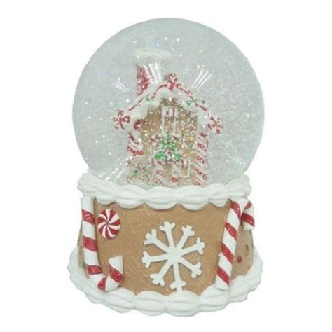 musical gingerbread house musical christmas gingerbread house snow globe winter holiday indoor decorations