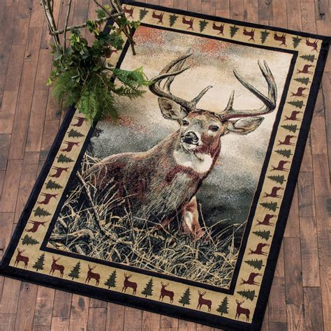 Deer Area Rugs Camo Rugs 4 X 5 Whitetail Wilderness Rug Camo Trading