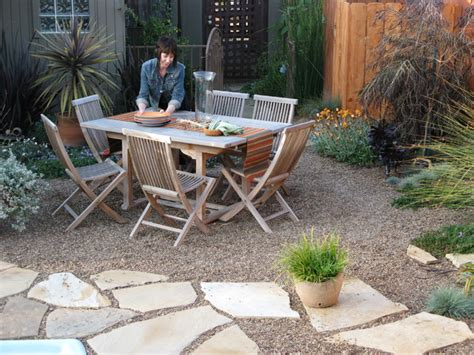 Gravel Patio Designs Garden Design With Paving Stones House Beautiful Design