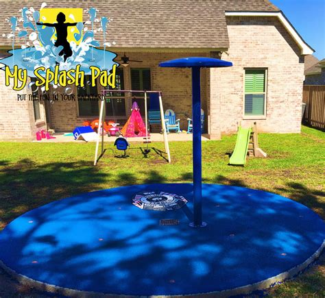 backyard splash park residential splash pads safety surfaces by my splash pad