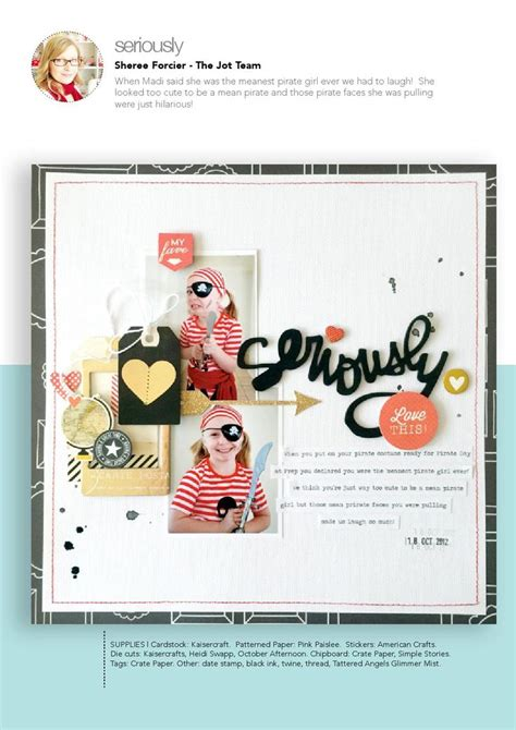 scrapbook layout magazine 37 best jot magazine images on pinterest scrapbook