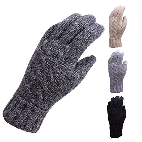 knit touchscreen gloves elma s wool cable knit touchscreen texting gloves