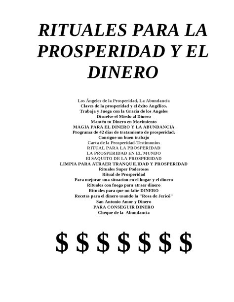 el dinero y la rituales para la prosperidad y el dinero by gran logia simbolica d andorra glsa issuu