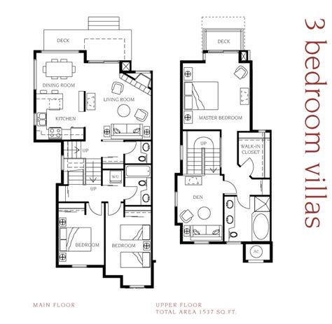 3 bedroom villa floor plans manteo resort waterfront hotel villas