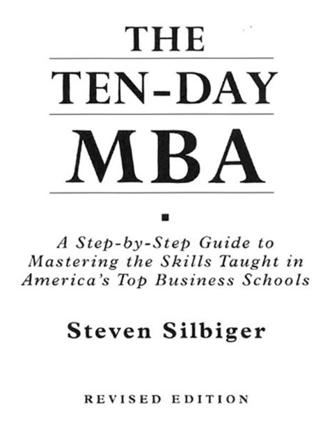 Ten Day Mba by 10 Day Mba