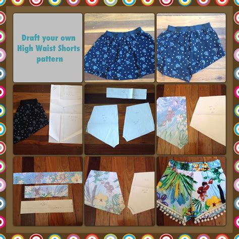 free pattern high waisted shorts draft your own high waist shorts pattern things to make
