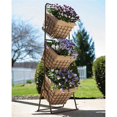 Garden Harvest Basket by 3 Tier Harvest Basket Planter Stand Jung Garden And Flower Seed Company