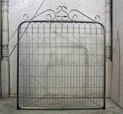 woven wire double loop garden gates  trellises