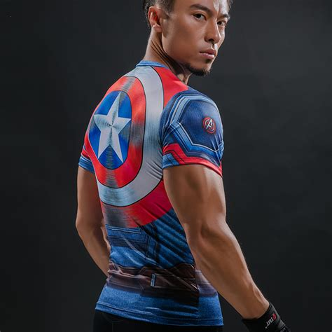 T Shirttshirttshirtkaos Captain America t shirt captain america shield civil war 3d printed t shirts marvel 3 iron