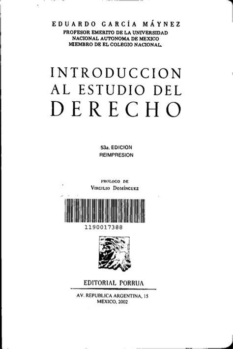 GARCIA MAYNEZ INTRODUCCION AL DERECHO PDF