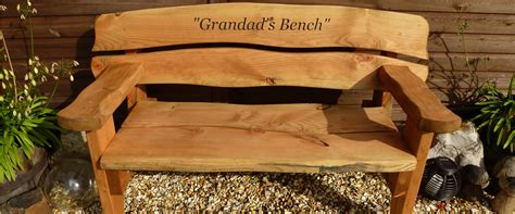 personalised garden bench the rustic wood company quality hand crafted furniture built to last