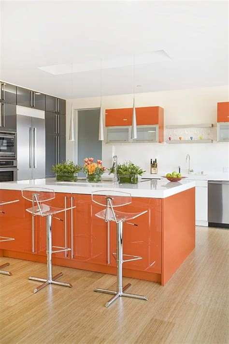 the granite gurus 10 great orange colored kitchens