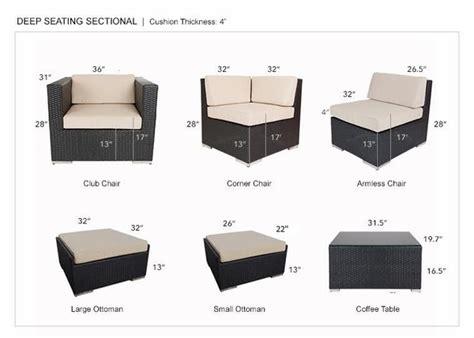 beautiful outdoor patio wicker furniture deep seating 7pc