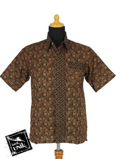 Kemeja Batik Pekalongan Fmc 330 baju batik sarimbit blus motif cokelat klasik tumpal