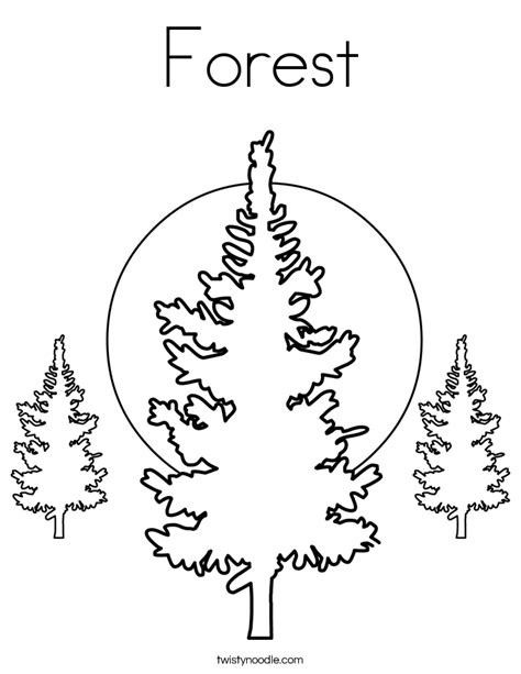 coloring pages forest tree forest coloring page twisty noodle