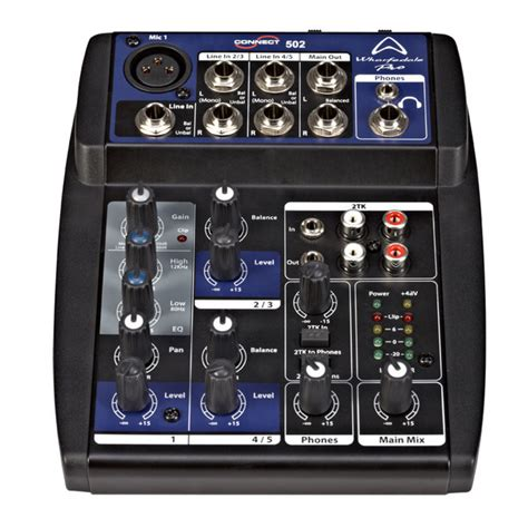 Mixer Wharfedale disc wharfedale pro connect 502 mixer at gear4music
