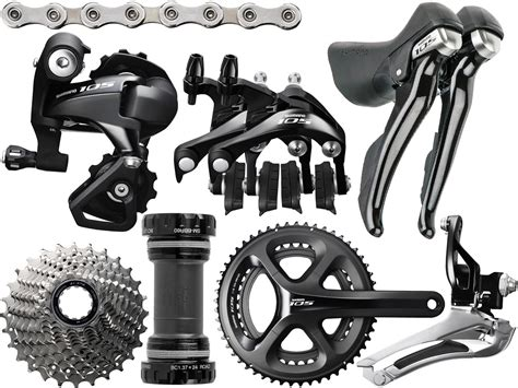 shimano 105 group set 5800 shimano 105 5800 black 11 speed double groupset road