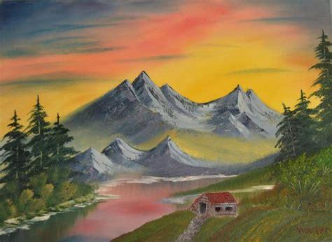 bob ross paintings sunset bob ross mountain at sunset paintings bob ross