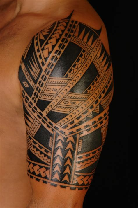 polynesian tattoo designs half sleeve maori polynesian polynesian half sleeve