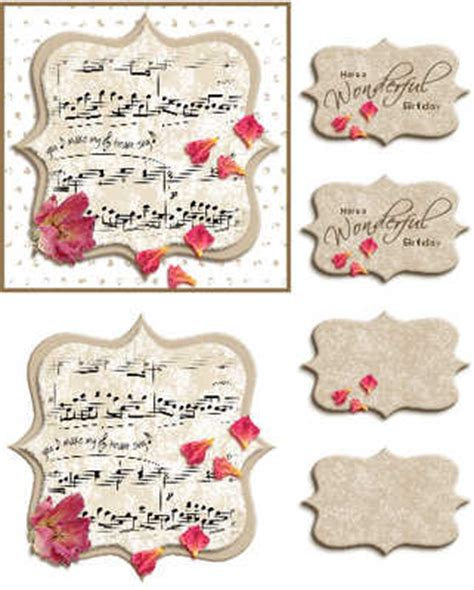 card toppers roses topper digital card kit