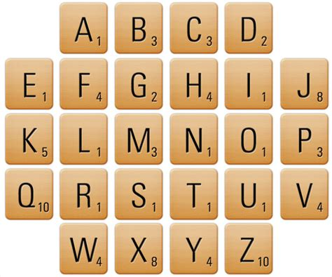 scrabble letters and points