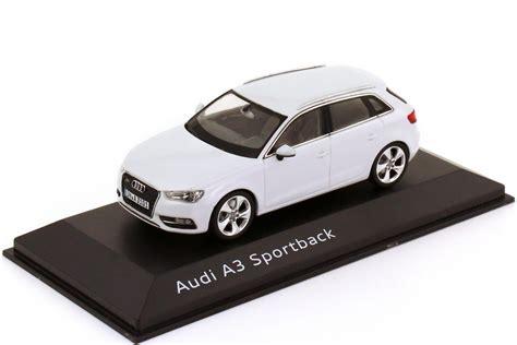 Audi A3 Sportback Modellauto by 1 43 Audi A3 Sportback 8v 2013 Gletscher Wei 223