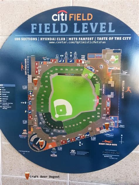 citi field map at citi field optimistic mets fan