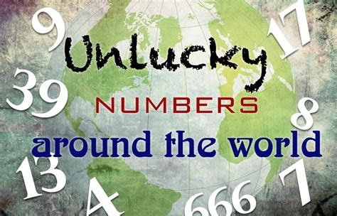 unlucky things unlucky numbers around the world adelphi studio
