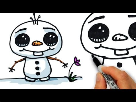 How to Draw Olaf Cute step by step easy Disney Frozen   YouTube