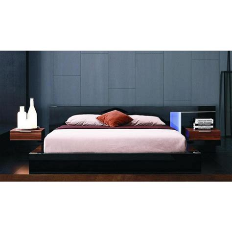 modern black lacquer bed