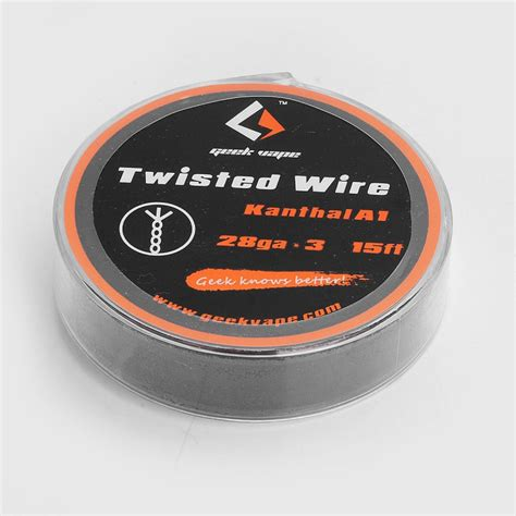 authentic geekvape twisted kanthal a1 28ga x 3 5m heating wire