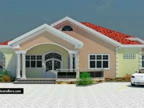 One Story House Plans With Porch 4 Bedroom Bungalow House Plans In Ghana Bedroom Biji Us