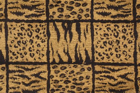 Black Chenille Upholstery Fabric - leopard plaid chenille upholstery fabric in gold black