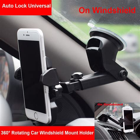 Car Holder Charger Mount Arsy universal 360 176 rotation car windshield mount holder cradle for mobile phone gps ebay