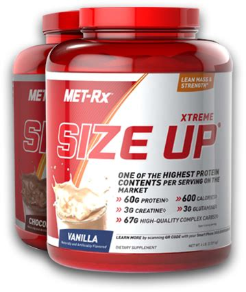 Minuman Whey Protein Met Rx Xtreme Size Up At Bodybuilding Best Prices For