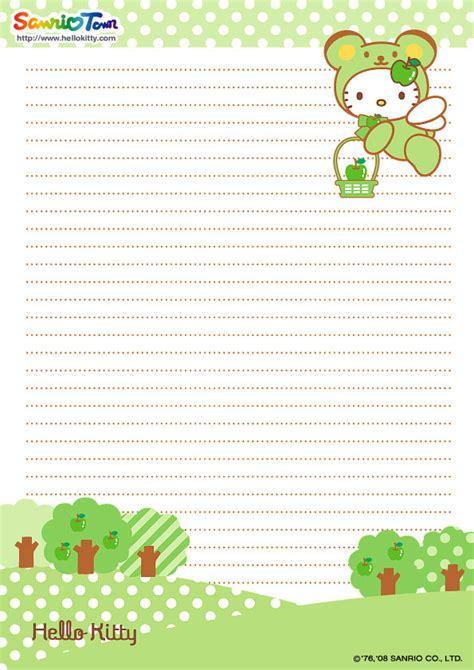 free printable hello kitty lined paper hello kitty writing cute kawaii resources
